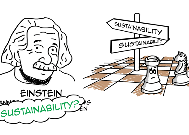 How might Einstein solve our sustainability problems?